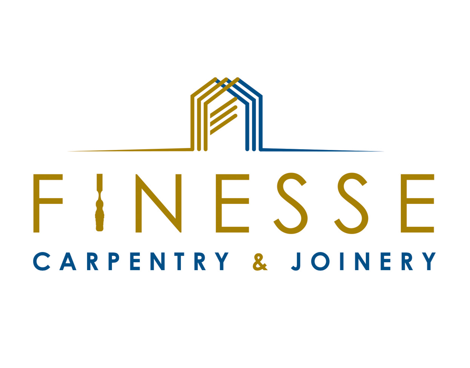 Finesse Carpentry logo and branding
